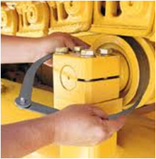 komatsu India inspection & measurements for machine